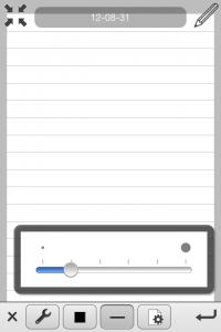pen width